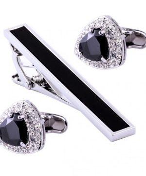 Luxusný pánsky set - manžetové gombíky a kravatová spona model08e