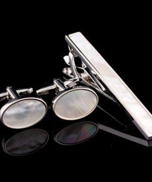 Luxusný pánsky set - manžetové gombíky a kravatová spona model09