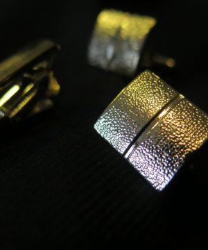 Luxusný pánsky set - manžety a kravatová spona v zlatej farbe