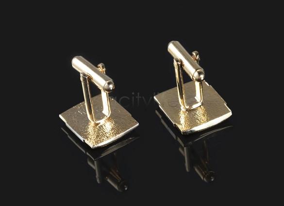 Luxusný pánsky set - manžety a kravatová spona v zlato-striebornej farbe