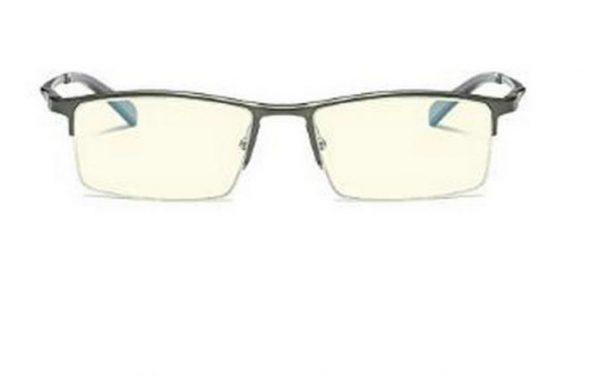 Luxusné pánske okuliare na počítač v modernom dizajne - tmavo sivé
