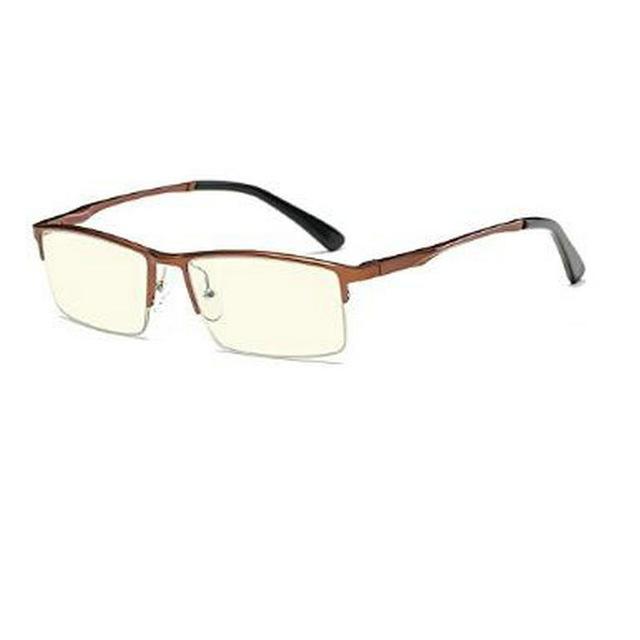 Luxusné pánske okuliare na počítač v modernom dizajne - medeno-hnedé 016b3ea77e8