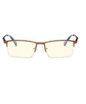 Luxusné pánske okuliare na počítač v modernom dizajne - medeno-hnedé