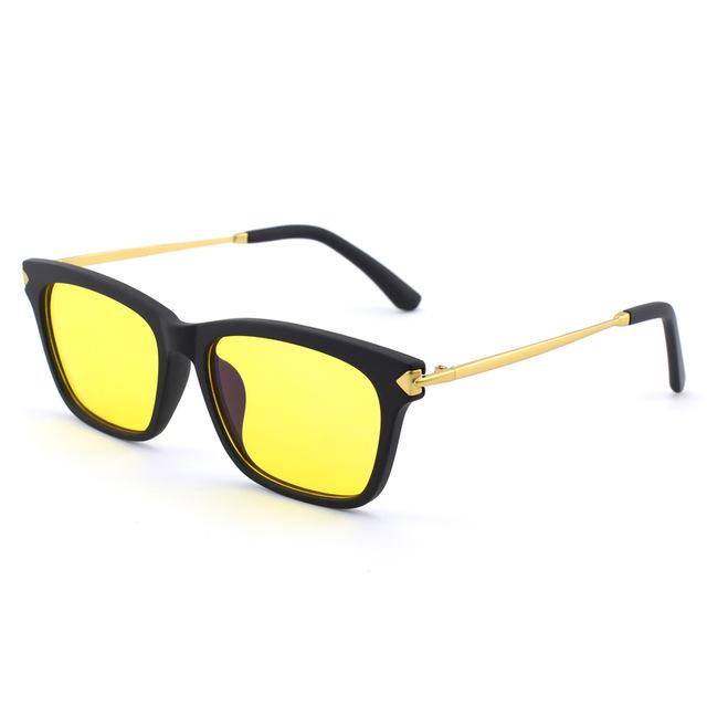Decentné pánske okuliare na počítač aj na nočnú jazdu - zlaté cad0c8bcac0