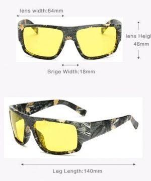 Maskáčové polarizované okuliare na šoférovanie v noci a v hmle