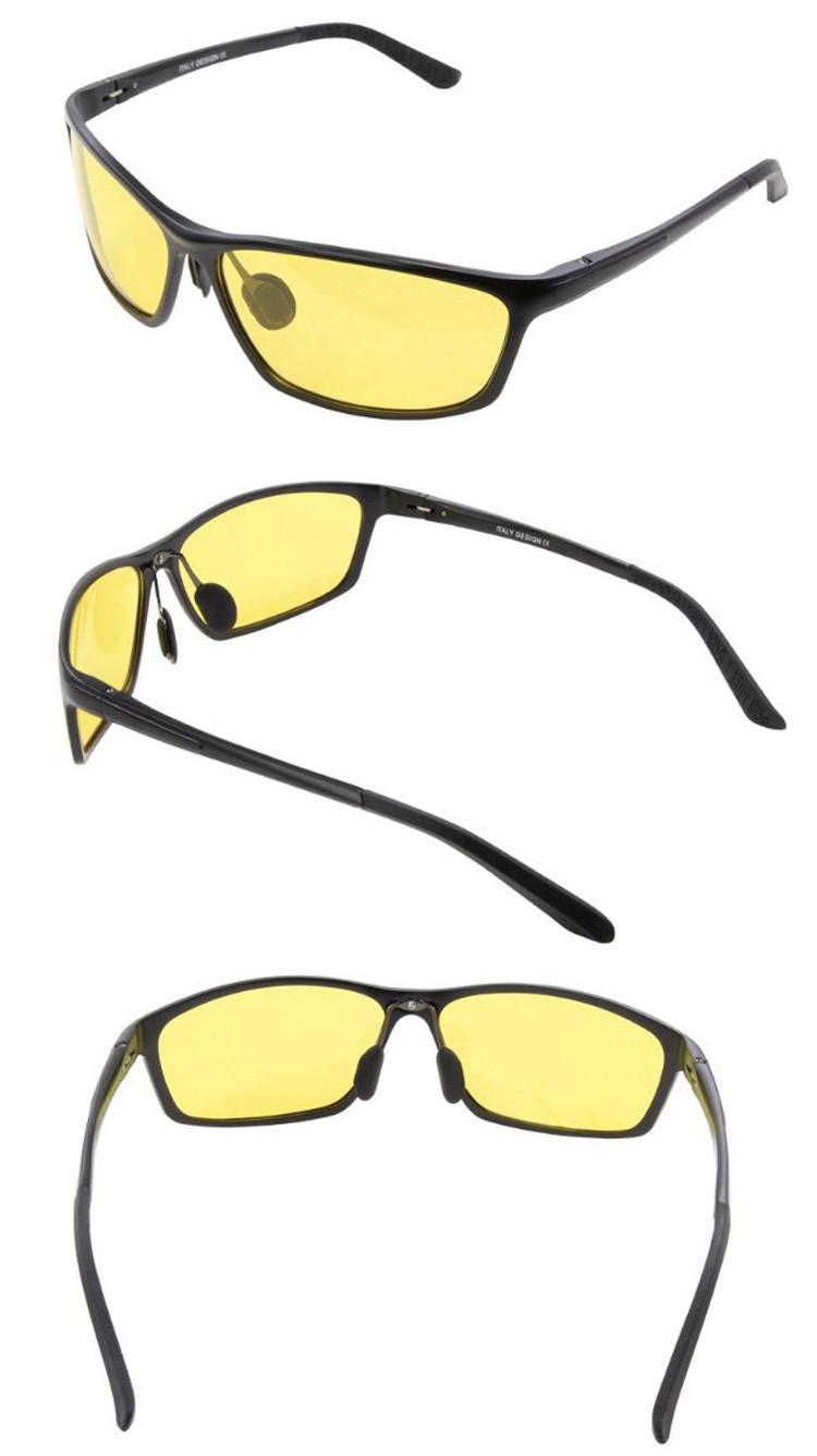 ae209aa93 Moderné pánske polarizované okuliare pre šoférov na nočnú jazdu v čiernej  farbe