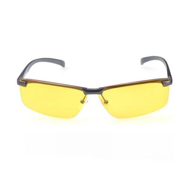 Štýlové pánske okuliare na nočnú jazdu so šedým rámikom