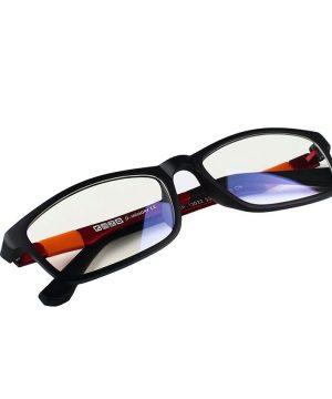 Štýlové pánske okuliare na prácu s počítačom - tmavo červené