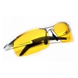 Luxusné pánske okuliare na jazdu v noci so strieborným rámikom 28aeda92129