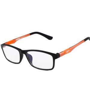Štýlové pánske okuliare na prácu s počítačom v pomarančovej farbe