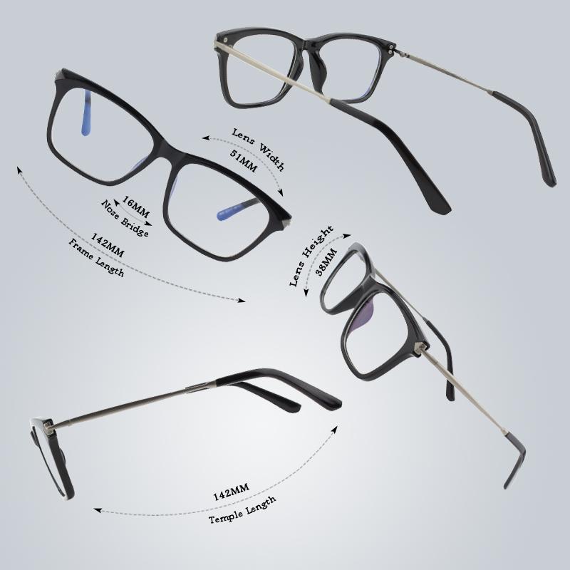 Odľahčené pánske okuliare na počítač s flexibilným zlato-čiernym rámom b9af7d634de