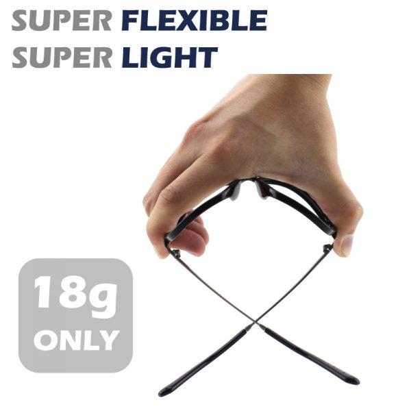 Odľahčené pánske okuliare na počítač s flexibilným zlato-čiernym rámom