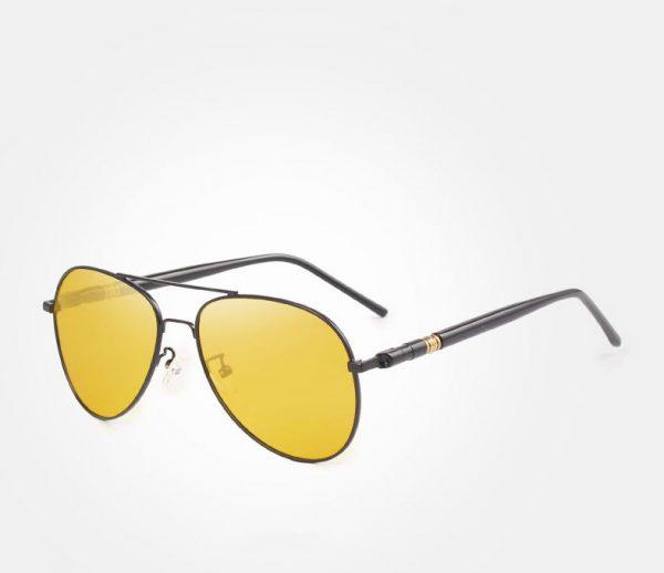 Pánske polarizované okuliare pre šoféra - pilotky s čiernym rámom