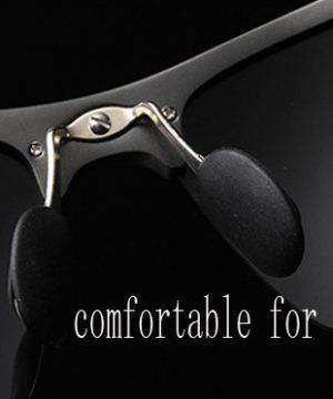 Pánske polarizované okuliare pre šoférov na jazdu v noci s čiernym rámikom
