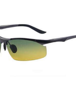 Pánske polarizované okuliare pre šoférov s tónovanými sklami - sivé