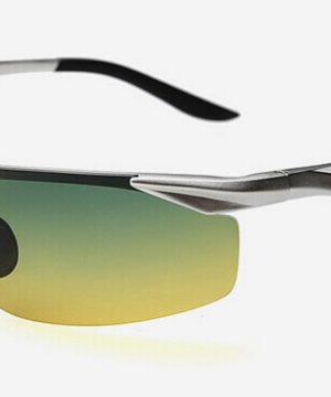 Pánske polarizované okuliare pre šoférov s tónovanými sklami - strieborné