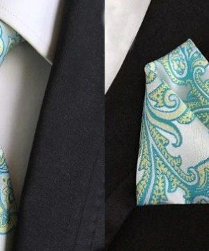 Pánsky hodvábny kravatový set - kravata + viazanka, model A