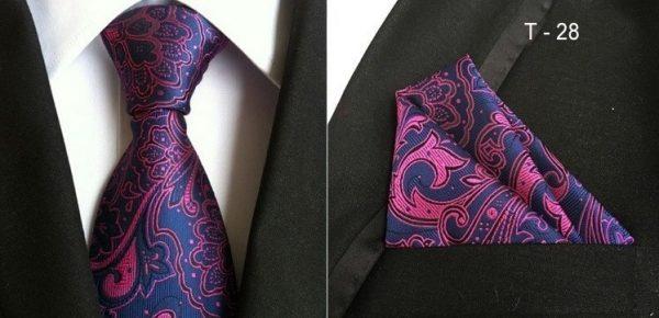 Pánsky hodvábny kravatový set - kravata + viazanka, model B