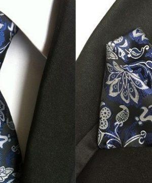 Pánsky hodvábny kravatový set - kravata + viazanka, model C