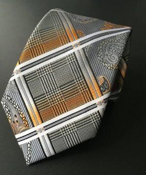 Pánsky hodvábny kravatový set - kravata + viazanka, model F