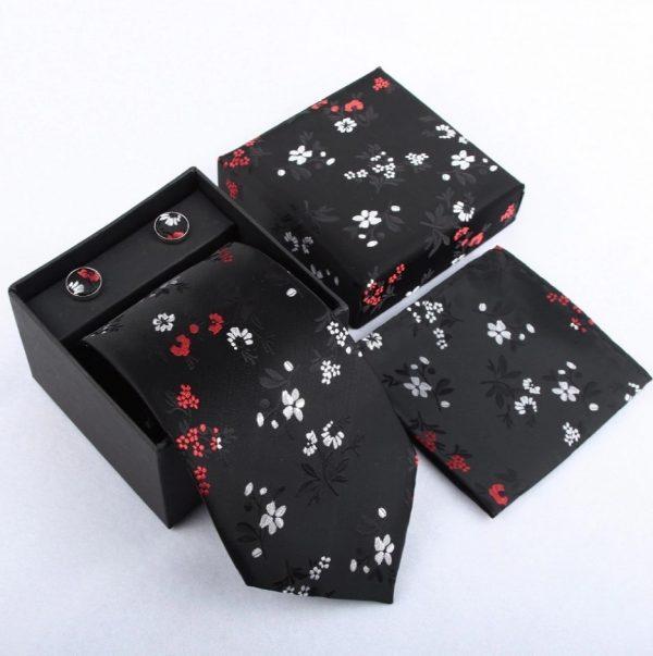 Pánsky kravatový set - kravata + manžety + vreckovka_model 10