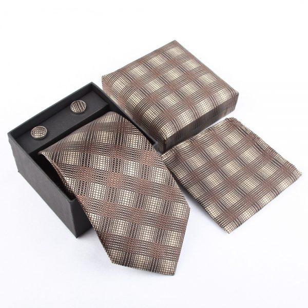 Pánsky kravatový set - kravata + manžety + vreckovka_model 2