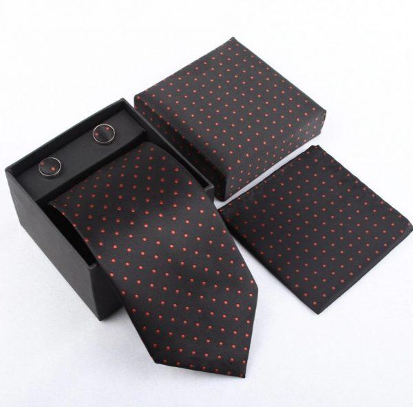 Pánsky kravatový set - kravata + manžety + vreckovka_model 8