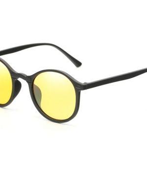 Retro pánske polarizované okuliare na nočné šoférovanie a do hmly