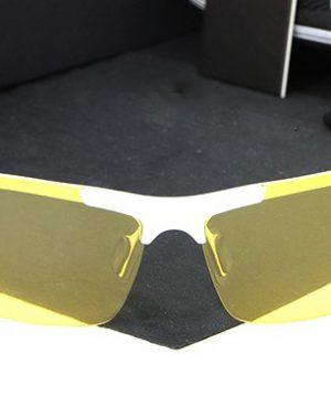 Štýlové pánske polarizované okuliare pre šoférov na noc a do hmly- strieborné