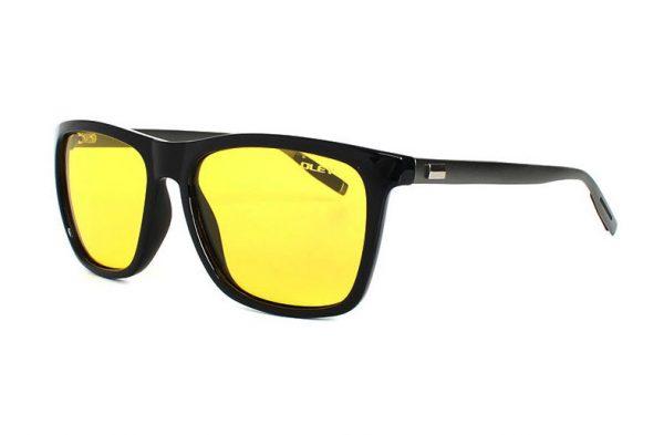 Decentné polarizované pánske okuliare na nočnú jazdu - čierny rám