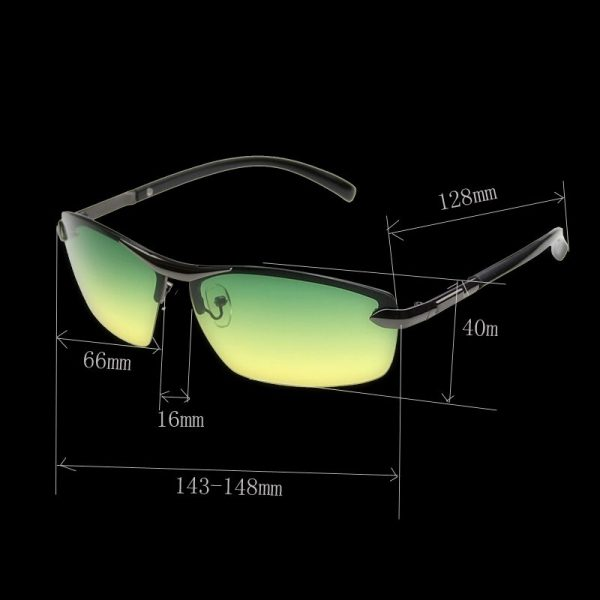 Špeciálne pánske okuliare na nočnú jazdu s čiernym rámikom