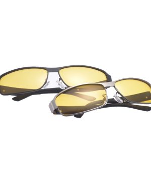Štýlové pánske okuliare pre šoférov na noc s čiernym rámikom