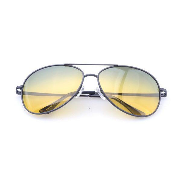 Špeciálne pánske okuliare pre šoférov - pilotky so strieborno-šedým rámikom
