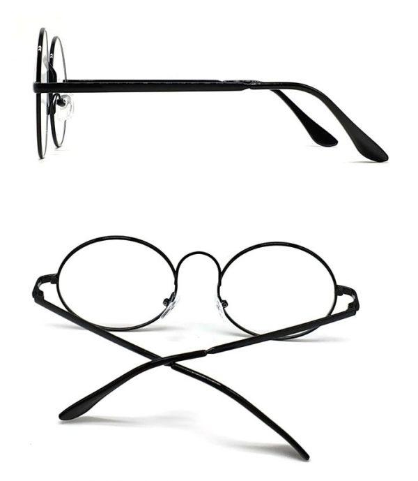 Štýlové retro pánske okuliare na počítač s čiernym rámikom