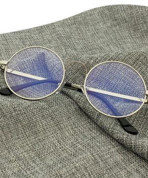 Štýlové retro pánske okuliare na počítač so strieborným rámikom