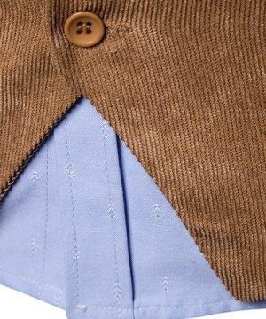 Retro pánska vesta ku obleku v tvídovom / menčestrovom prevedení - čierna