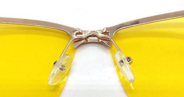 Zlaté polarizované okuliare pre šoféra na noc a do hmly