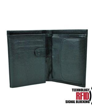 Kožená RFID peňaženka v čiernej farbe č (1)