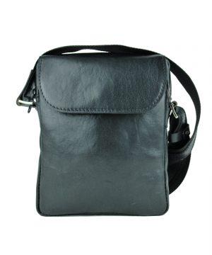 Pánska luxusná kožená etuja z lesklej hovädzej kože č.8365 v čiernej farbe