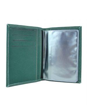 Pánske púzdro na doklady z pravej prírodnej kože v zelenej farbe (1)