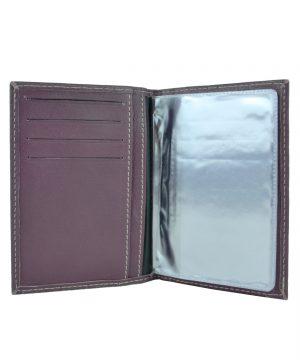 Pánske púzdro na doklady z pravej prírodnej kože vo fialovej farbe (4)