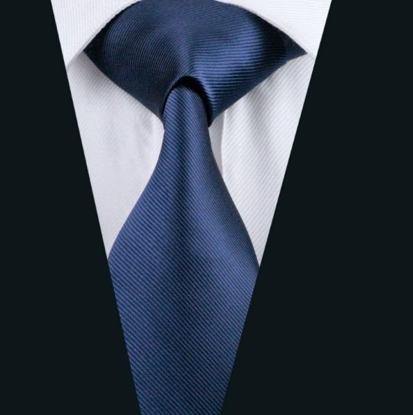Pánsky kravatový set - kravata + manžety + vreckovka s jemným modrým vzorom