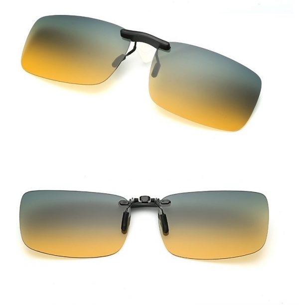 Polarizovaný clip na okuliare - tieňovaný, vhodný na nočnú jazdu a šport