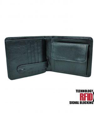 8b48fdfc7 RFID kožená peňaženka v čiernej farbe vybavená blokáciou RFID NFC, č (1)
