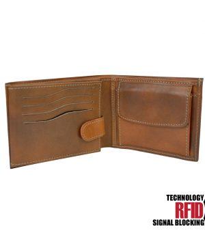 aa8bbd814 RFID kožená peňaženka v hnedej farbe vybavená blokáciou RFID NFC, č (4)