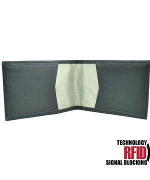 RFID kožené púzdro v čiernej farbe vybavené blokáciou RFID / NFC