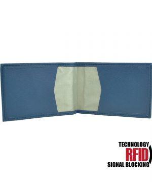 RFID kožené púzdro v modrej farbe vybavené blokáciou RFID NFC