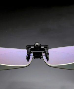 Šikovný klip na okuliare s ochranným filtrom proti žiareniu monitora