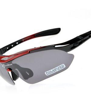 cab5a97f5823e Športové polarizované okuliare s 5 vymeniteľnými viac-účelovými sklami -  čierno-červené