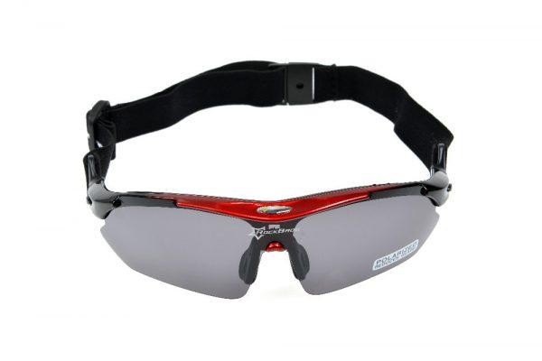 Športové polarizované okuliare s 5 vymeniteľnými viac-účelovými sklami - čierno-červené